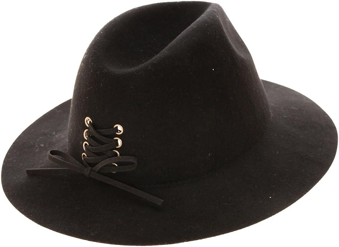Wool Felt Fedora Hat With...