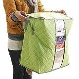 Pollyhb Clothing Storage Bag, Storage Box Portable Organizer Non Woven Underbed Pouch Storage Bag Box (Green)