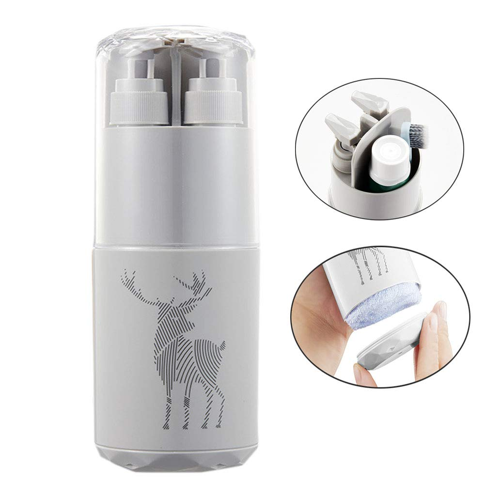 EFGS Travel Bottles Set, Portable Multifunction Sturdy Brushing Cup,Travel, Business Trip,Gray