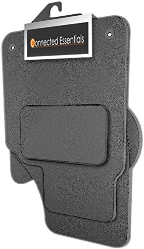 2002-2008 Connected Essentials 5021100 Tailored Heavy Duty Custom Fit Car Mats for Superb Oval Clips Premium Grey with Grey Trim