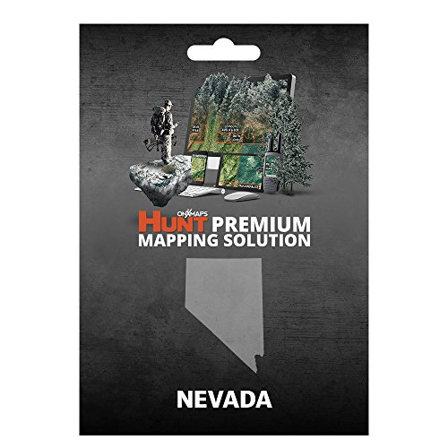 onXmaps HUNT Nevada: Digital Hunting Map For Garmin GPS + Premium Membership For Smartphone and Computer Color Coded Land Ownership 24k Topo Hunting Specific Data