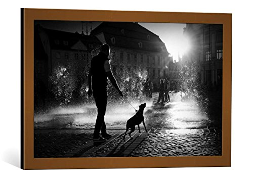 Framed Art Print: Ionut Harag hot Day - Decorative Fine Art Poster, Picture with Frame, 29.5x17.7 inch / 75x45 cm, Copper Brushed
