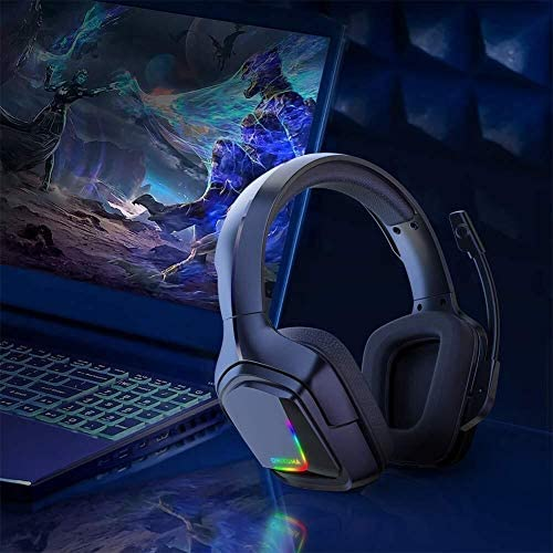 HNSYDS 快適で通気性を着用するヘッドマウントゲームヘッドセットのHD音質コンピュータヘッドセット調節可能なヘッドバンド ゲーミングヘッドセット