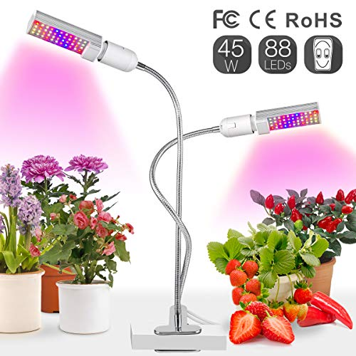 Plant Grow Light,Relassy LED Grow Lights for Indoor Plants,Full Spectrum Grow Lamp with Replaceable Bulbs, Indoor Grow Light for Seedling Growing Blooming Fruiting