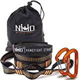 Nature's Hangout HangTight Hammock Straps - Quick & Easy Setup for All Hammocks. Extra Strong, Lightweight & Tree Friendly. No Stretch Polyester. 20 Feet Long & 32 Adjustable Loops Total