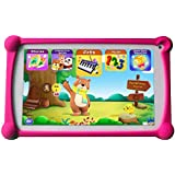 Kids Tablet, B.B.PAW 7 inch 1G+8G Android Tablet with Additional 120+ English Preloaded Learning&Training Apps for Kids-Candy Pink