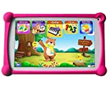 Kids Tablet, B.B.PAW 7 inch 1G+8G Android Tablet with Additional 120+ English Preloaded Apps-Candy Pink
