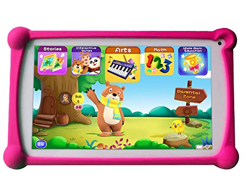 Kids Tablet, B.B.PAW 7 inch 1G+8G Android Tablet with Additional 120+ English Preloaded Apps-Candy Pink ()
