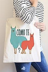 Como Te Llamas Tote Bag in Natural Color
