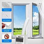 Aozzy 400CM Guarnizione Universale per Finestre per Condizionatore Portatile, Asciugatrice - per Tutti Condizionatori… 51md7a4%2B4lL. SS150