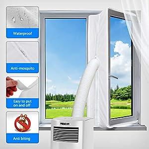Aozzy 400CM Guarnizione Universale per Finestre per Condizionatore Portatile, Asciugatrice - per Tutti Condizionatori… 51md7a4%2B4lL. SS300