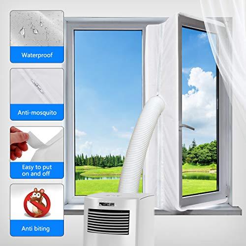 Aozzy para aparatos de Aire Acondicionado portatiles Cubierta de Ventana AirLock, Pantalla para Evitar la Entrada de Aire Caliente Accesorio de Sistema de Aire Acondicionado