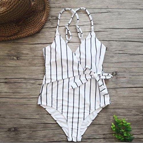 Backless Bagno intero Elecenty Cut mare Bianco Sexy costume da di pezzo costumi High brasiliana un Donna Donna Bikini CtqyROqcS