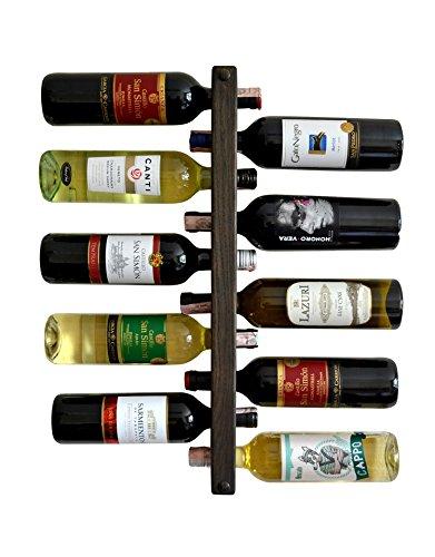 MyFancyCraft Handmade Wood Wine Rack Natural Pine Decor Bottle Holder Organizer Wall Mounted (10 Bottle Holder) (Rack Wall Natural Wood)