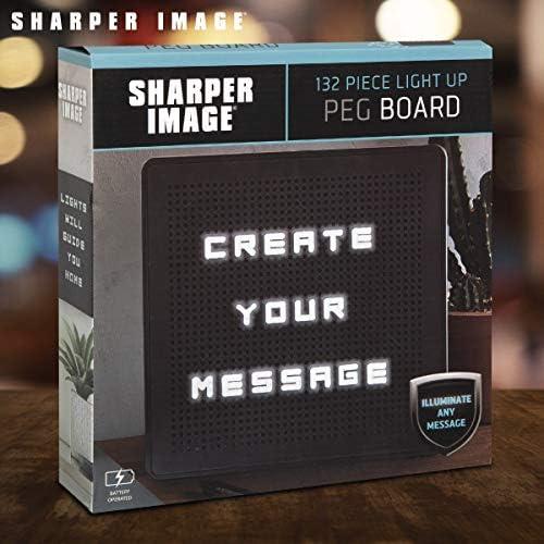 Amazon.com: SHARPER IMAGE - Cartel con luz para mensaje ...