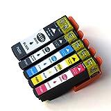 Tyjtyrjty Compatible T3357 Ink Cartridges for Epson Expression Premium XP-530 XP-630 XP-635 XP-830 Printers Compatible Epson T3351 T33XL - T3351 T3361 T3362 T3363 T3364 Compatible Inkjets