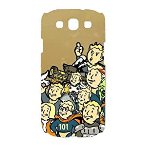 Personalized Durable Cases Samsung Galaxy S3 I9300 Cell Phone Case White vault boy fallout Ybmowh Protection Cover