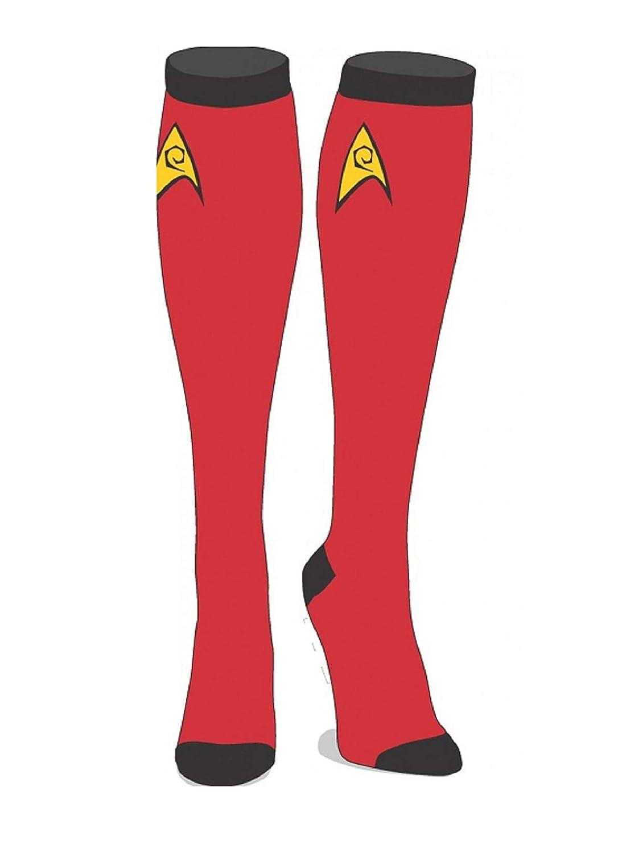 Ladie's Star Trek Licensed Knee High Socks (Command)