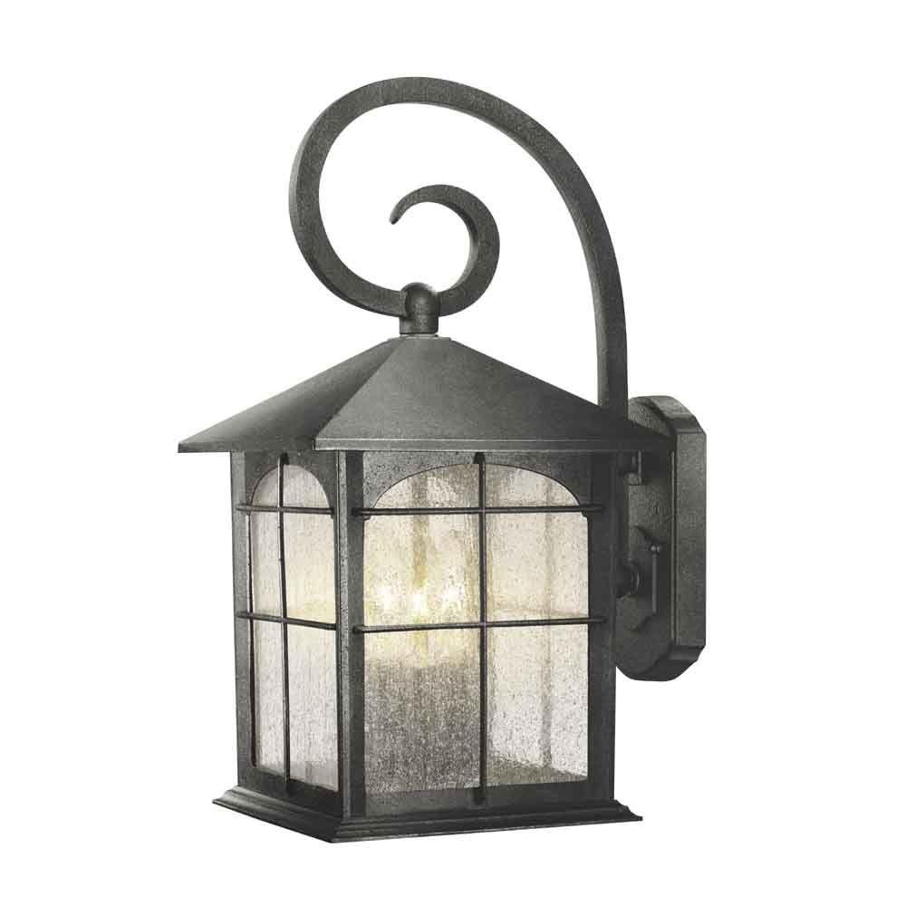 Home Decorators Collection Brimfield 3-Light Aged Iron Outdoor Wall Lantern