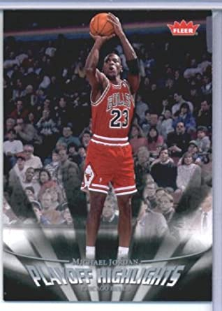 c07621a2d0778c Amazon.com  2007 Fleer Michael Jordan Playoff Highlights Basketball Card ( 2007-08) IN SCREWDOWN CASE  29 Michael Jordan Mint  Collectibles   Fine Art