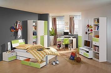 Jugendzimmer In Weißapfel 2 Trg Schrank Regalelement Bett