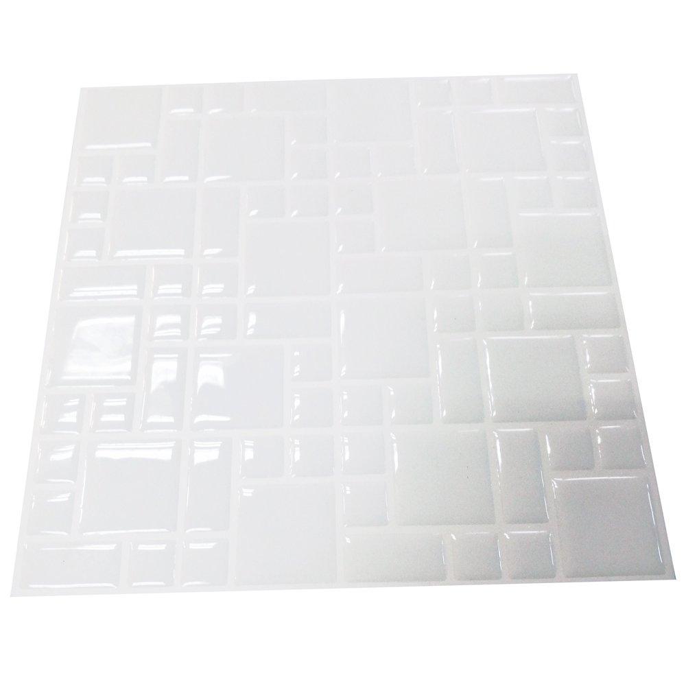 Tile & sticker 3D gel effetto mosaico autoadesivo Mosaic Wall tile Decal–basta staccare e attaccare al completamente trasforma la tua cucina, bagno o dove avete piastrelle (10fogli 21,6x 21,6cm)
