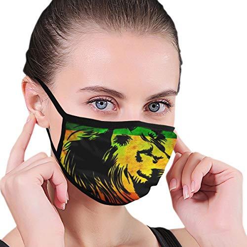 Face Masks Jamaica Flag Rasta Lions Mouth Mask Reusable Face Dust Mask Black