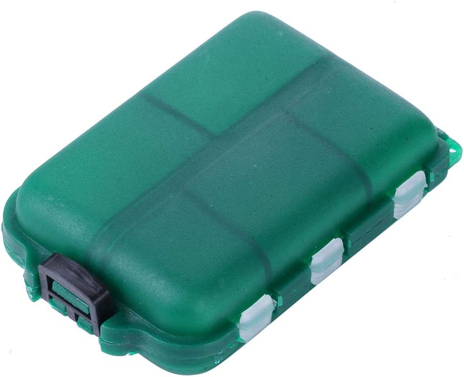 Leezo Angel-Box wasserdichte schwimmende mehrere Separate F/ächer Organisationskoffer f/ür K/öder Wirbel Angelhaken