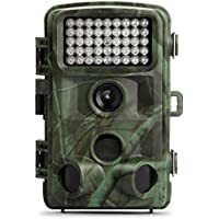 Hunting Camera and 12MP 1080P HD Trail Hunting Game Camera,120° Wide Angle Wildlife Scouting Infrared Night Vision 22M / 75FT Waterproof IP66-rated Wild Game Trail Cam
