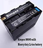 Simpex 8800 mAh Li-Ion Sony NP-F970 Battery also supports all LED video Lights [Free USB LED Light Worth 199]