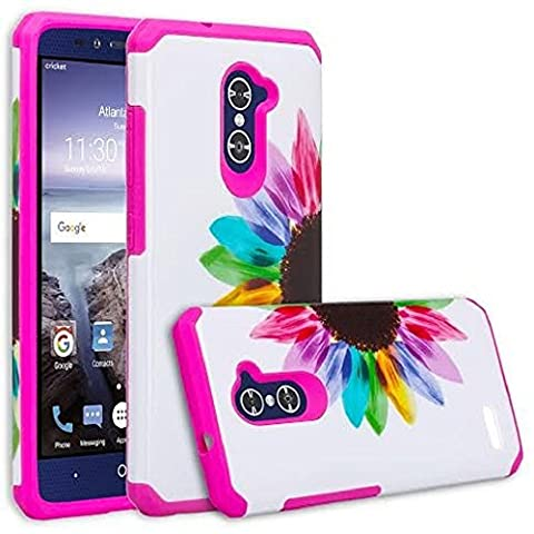ZTE ZMAX Pro Case, ZTE Carry Case, SOGA [Astro Guard Series] Hybrid Armor Cover Protector Case for ZTE ZMAX Pro / Carry Z981 - Sunflower / (Zte Zmax Phone Case Pink Hybrid)