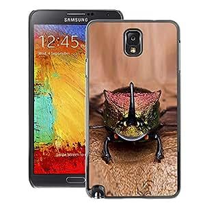 A-type Arte & diseño plástico duro Fundas Cover Cubre Hard Case Cover para Samsung Note 3 N9000 (Gecko Lizard Brown Nature Exotic Animal)