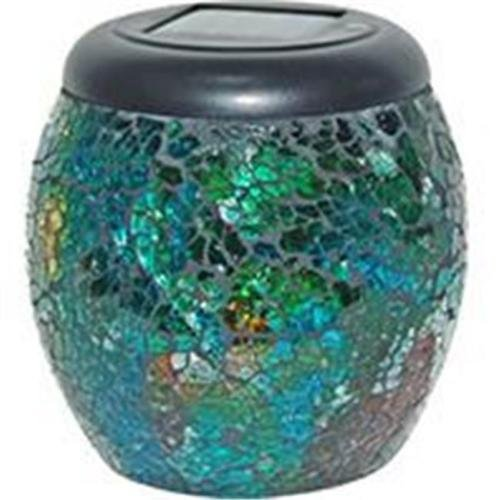 Alpine SLC106A-12 Solar Mosaic LED Jar Lanterns - Assorted44; Display of 12 by Alpine