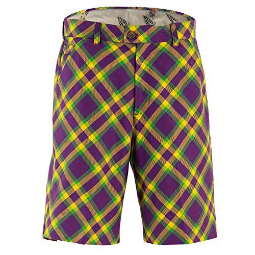 Royal & Awesome Mardi Grass Mens Golf Shorts - 40