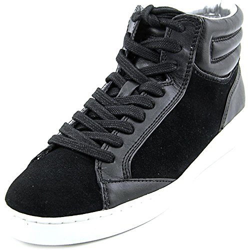 Paige Womens Black Sneakers Michael Fashion Top Leather Up Lace Hight Kors MICHAEL qEtTR7R