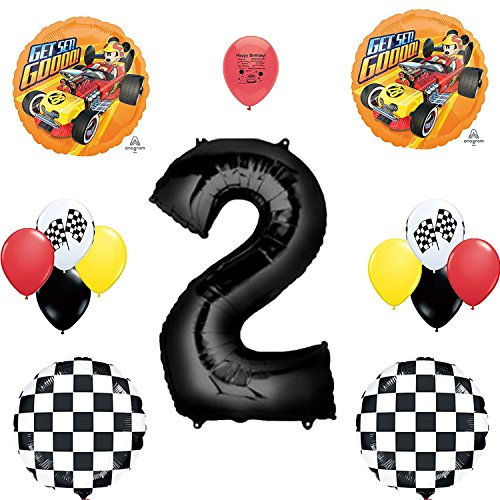 Combined Brands Mickey Mouse Roadster Racer Party Supplies 2nd Birthday Party Balloon Set