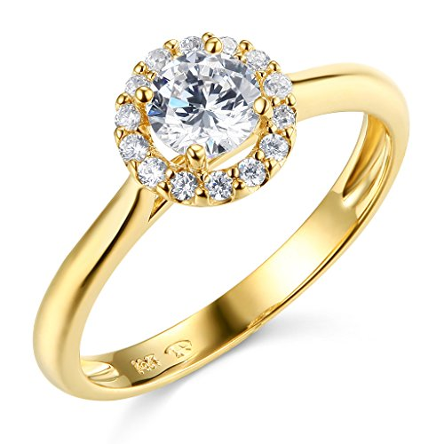 14K Yellow OR White Gold Wedding Engagement Ring