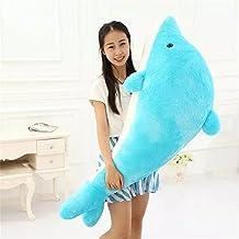 Dolphin Stuffed Animal Plush Toy Pillow Gift For Children , Blue 60CM(23.62'')