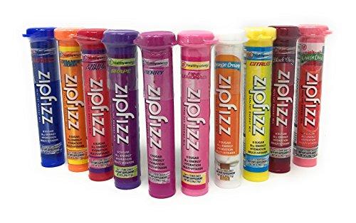 Zipfizz Healthy Energy Drink Mix, Ultimate 10 Flavor Variety Sampler by Zipfizz