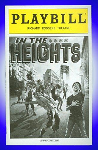 In the Heights, Broadway Playbill + Marcy Harriell, Priscilla Lopez, Olga Merediz, Andréa Burns, Corbin Bleu, Janet Dacal