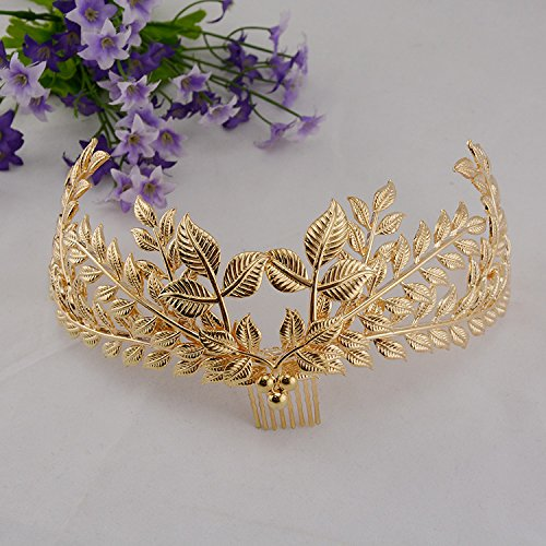 Wedding Gift List Uae : Leaf Hair Crown Wedding Hair Jewelry with Combs for Women in the UAE ...