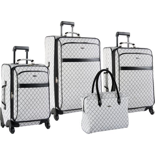 Pierre Card In Signature Spinner Four Piece Luggage Set, Grey, One...