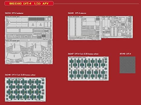 amazon com: edubig3580 1:35 eduard big ed lvt-4 pe super set for the 1:35  afv club lvt-4 model kit: toys & games