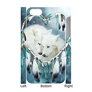 C-EUR Diy hard Case Wolf Dream Catcher customized 3D case For Iphone 4/4s by mcsharks