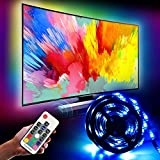 2M LED TV Backlight, Innoo Tech LED TV Light Strips 6.6ft/4 * 50cm(2M) 60 LEDs,TV Strip Lights USB Powered Light Strip with RF Remote Waterproof Home Theater Lighting for PC,40 to 60 inch HDTV