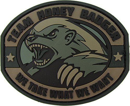 Honey Badger Morale Patch PVC ( Color:ACU (Foliage Green)) by MilSpec Monkey