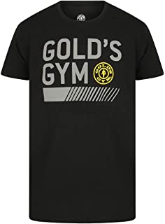 b2a987b54828 Gold s Gym Mens Training T-Shirt Large Graphic Black Workout Tee  Performance ...