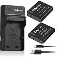 OAproda DMW-BCM13 Battery (2 pack) and Ultra Slim Micro USB Battery Charger for Panasonic DMW-BCM13E, DMW-BCM13PP and Lumix DMC-ZS30, DMC-ZS35, DMC-ZS40, DMC-ZS45, DMC-ZS50, DMC-FT5A, DMC-LZ40,DMC-TS5