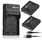 OAproda DMW-BCM13 Battery (2 pack) and Ultra Slim Micro USB Battery Charger for Panasonic DMW-BCM13E, DMW-BCM13PP and Lumix DMC-ZS30, DMC-ZS35, DMC-ZS40, DMC-ZS45, DMC-ZS50, DMC-FT5A, DMC-LZ40,DMC-TS5