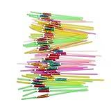 umbrella dispenser - HS 50pcs/pack Plastic Umbrella Disposable Straws Drink straws for Party Table Decor